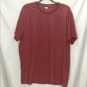 Old Navy Shirts - Old Navy Soft Washed Red Plain Tee-Shirt